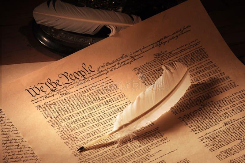 宪法媒体我们 库存照片