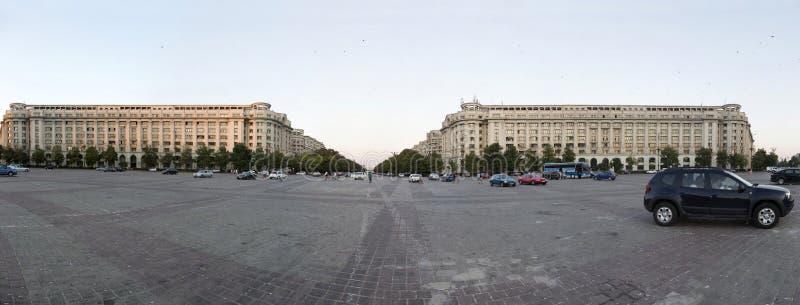 宪法广场在布加勒斯特的中心 免版税图库摄影