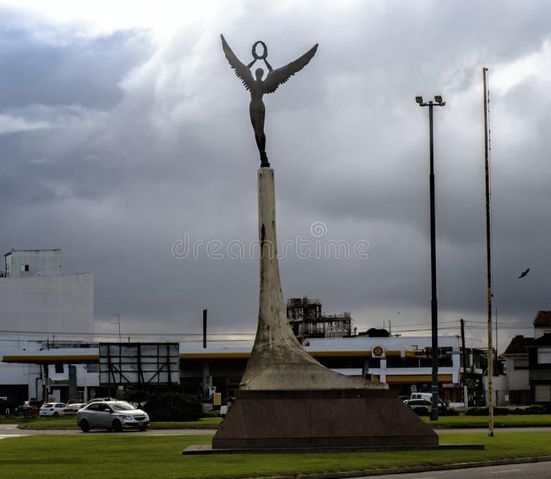 宪法正方形,马德普拉塔,阿根廷 免版税库存图片
