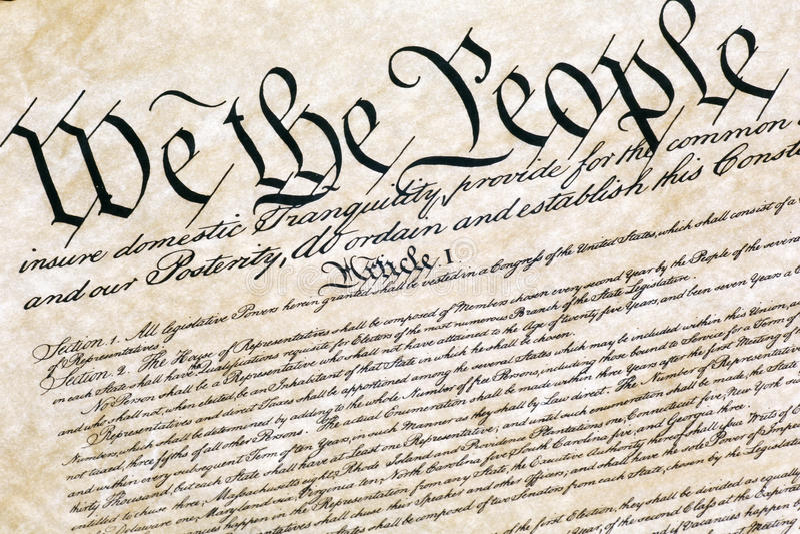 宪法状态团结了 免版税库存照片