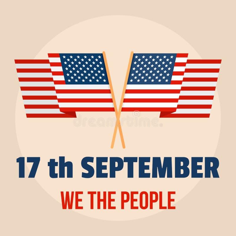 宪法美国天人背景,平的样式 皇族释放例证