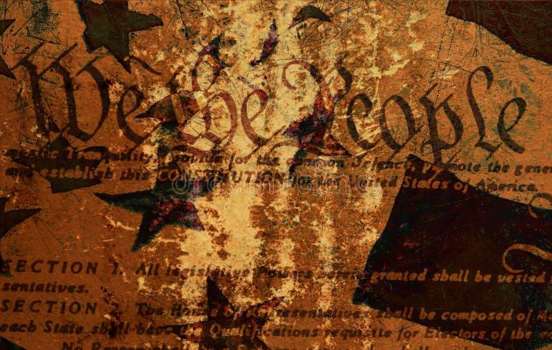 宪法grunge 库存照片