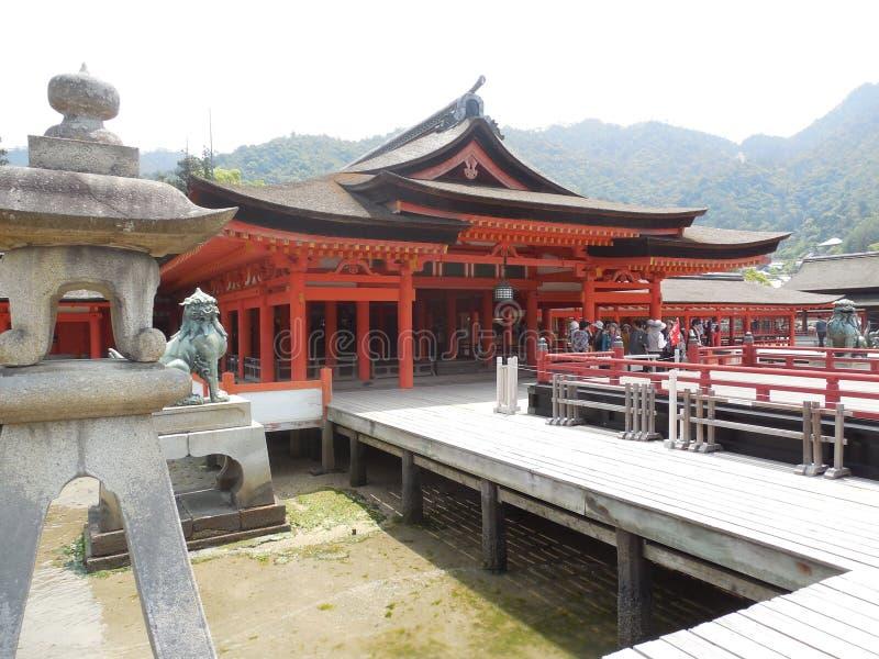 宫岛寺庙 免版税图库摄影