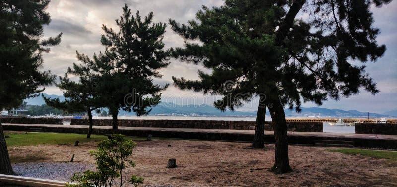 宫岛山景 免版税库存图片