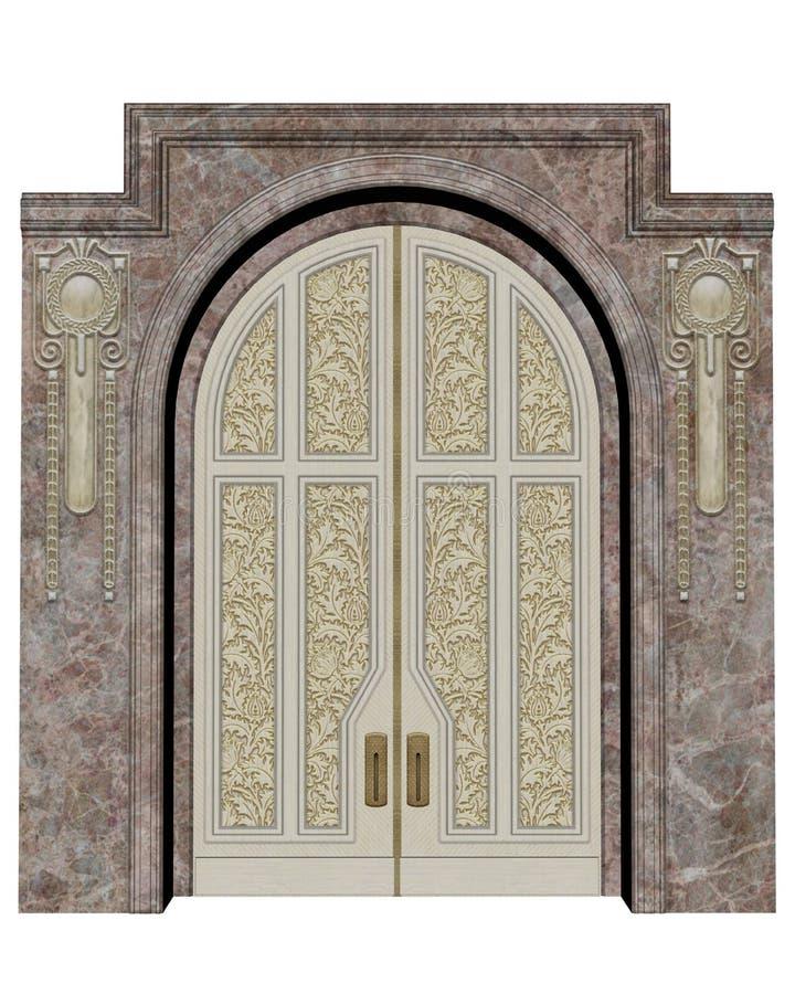 宫殿入口- 3D回报 库存例证