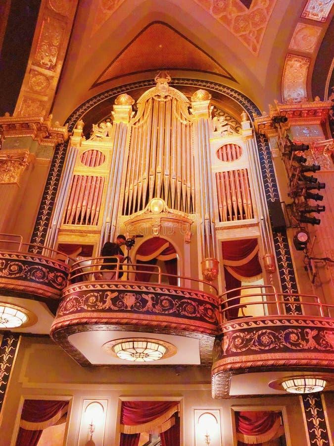 宫殿剧院大厅内部 免版税库存图片