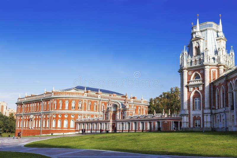 宫殿和公园合奏` Tsaritsyno `,莫斯科 库存照片