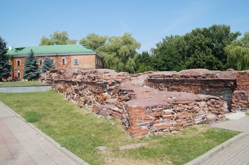 宫殿的废墟,在1918签署布雷斯特Litovsk并且结束第一次世界大战 免版税库存照片
