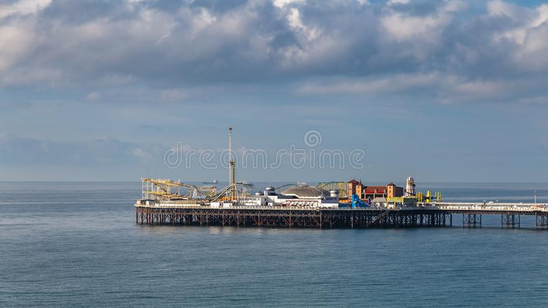 宫殿码头,布赖顿,东萨塞克斯郡,英国 免版税库存图片