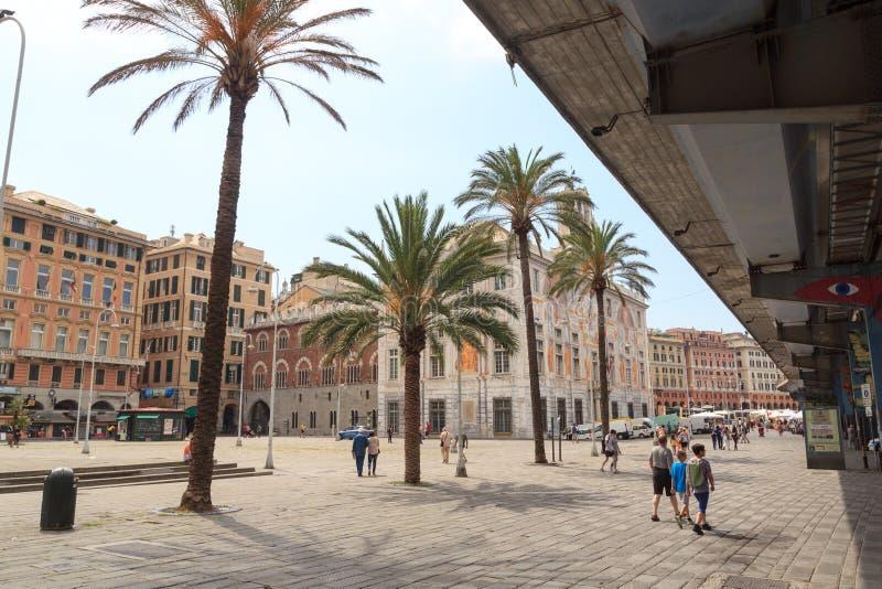 宫殿Palazzo在波尔图Antico,热那亚附近的圣乔治 免版税库存照片