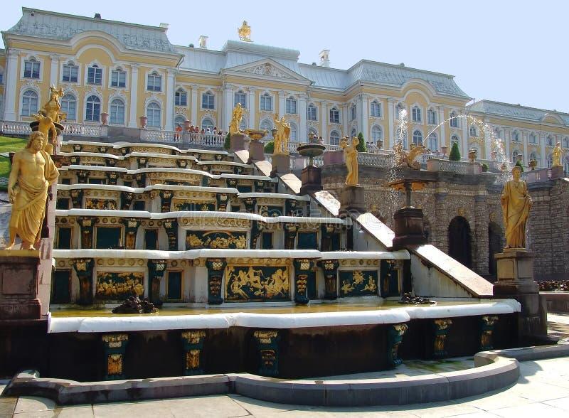 宫殿petergof 图库摄影