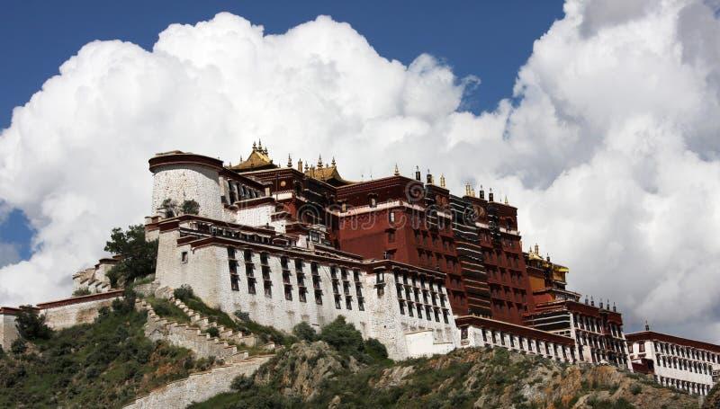 宫殿potala藏语 免版税图库摄影