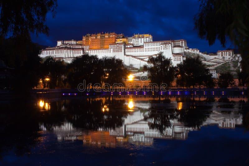 宫殿potala西藏 库存图片