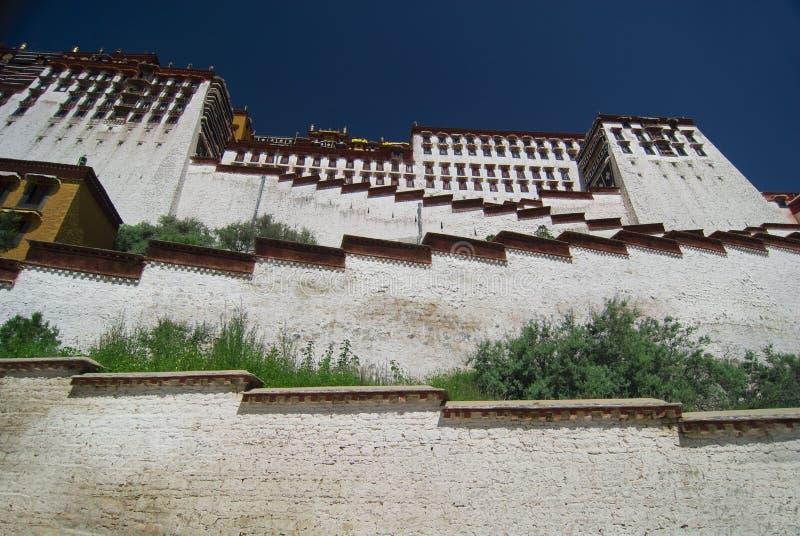 宫殿potala西藏 图库摄影