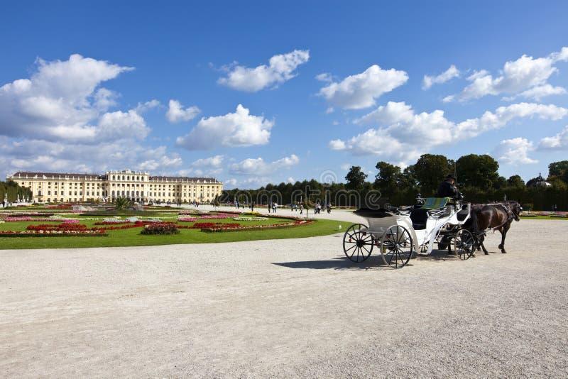宫殿schoenbrunn维也纳 免版税库存照片