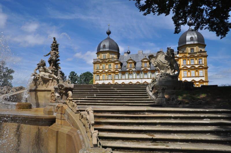 宫殿Seehof在巴伐利亚 库存照片