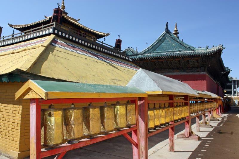 宫殿ulaanbaatar冬天 库存照片