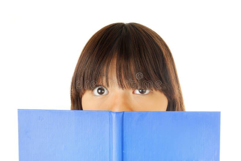害怕书我 免版税库存照片