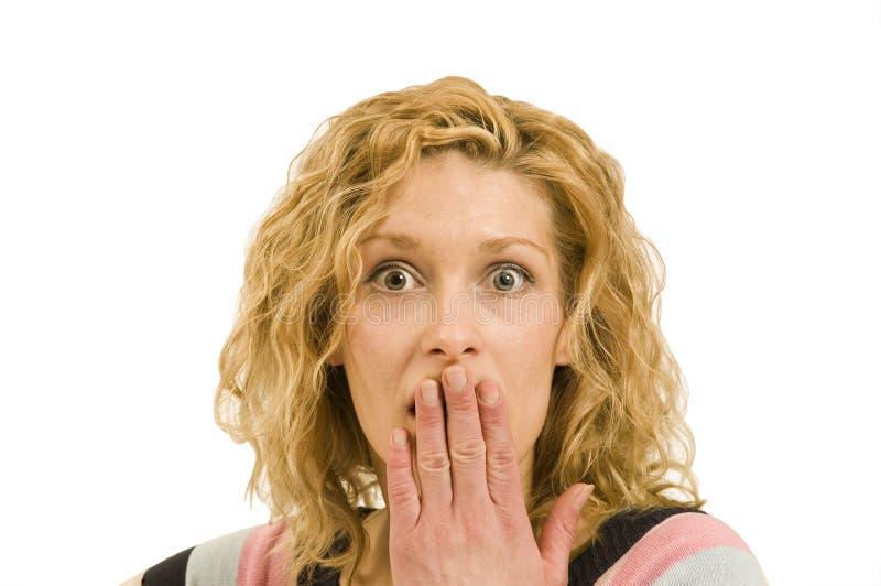 害怕妇女年轻人 免版税库存图片