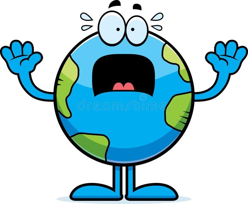 害怕的动画片地球 皇族释放例证