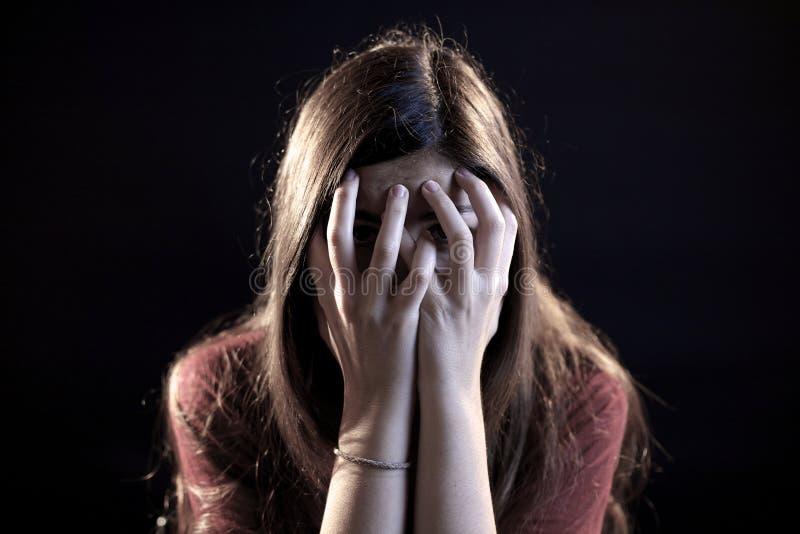 害怕的妇女 免版税图库摄影