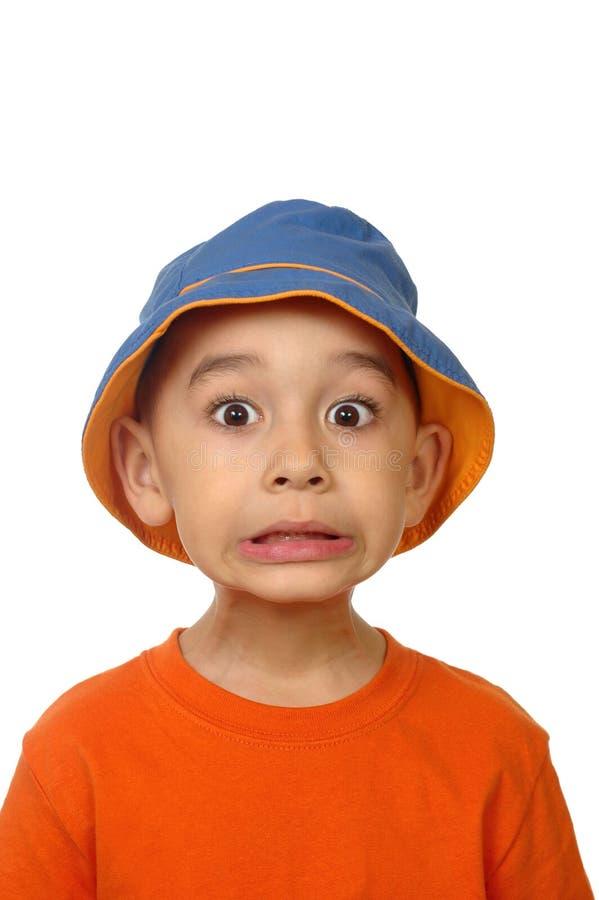 害怕的孩子 图库摄影