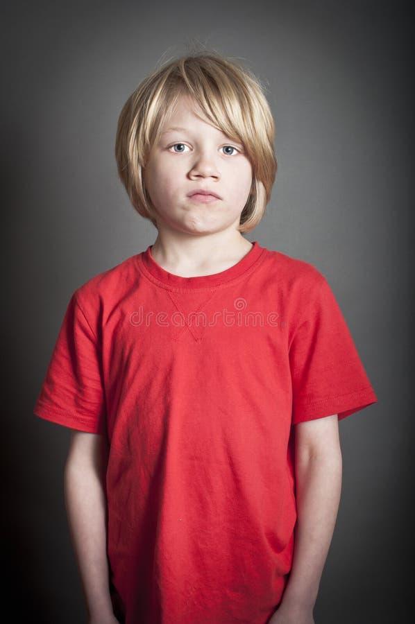害怕的男孩 免版税库存图片