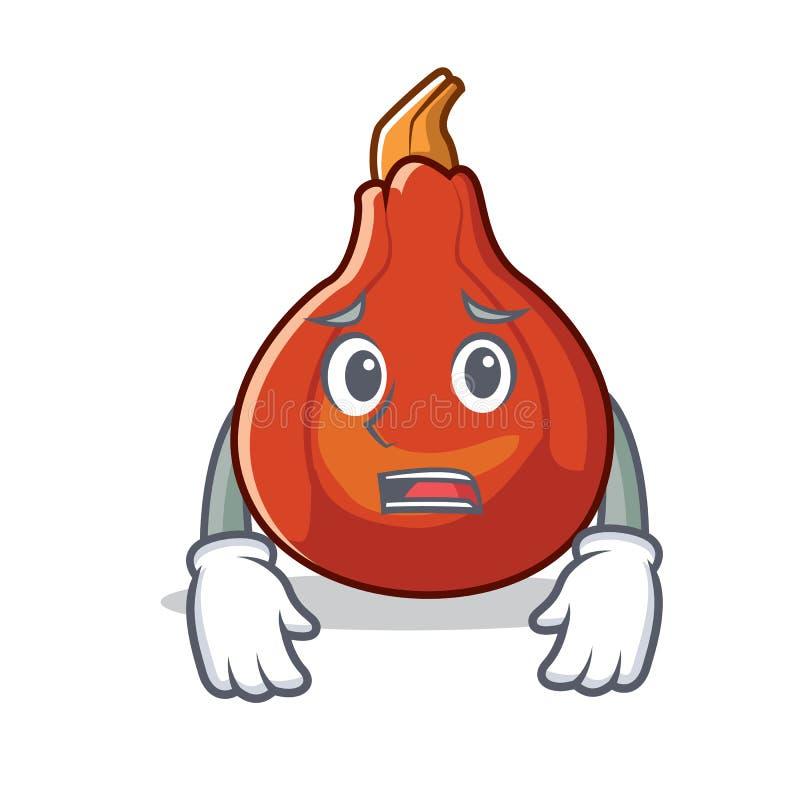 害怕红色kuri南瓜吉祥人动画片 皇族释放例证
