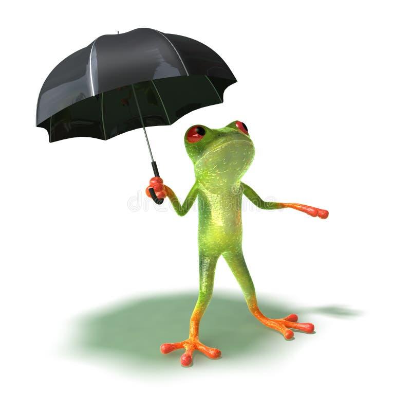 害怕青蛙雨 向量例证