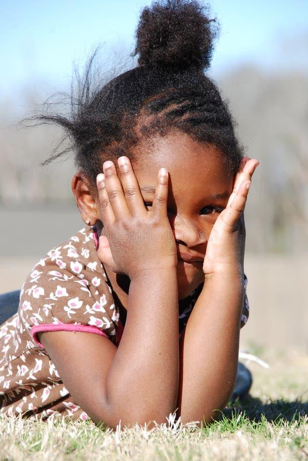 害羞的女孩 库存图片