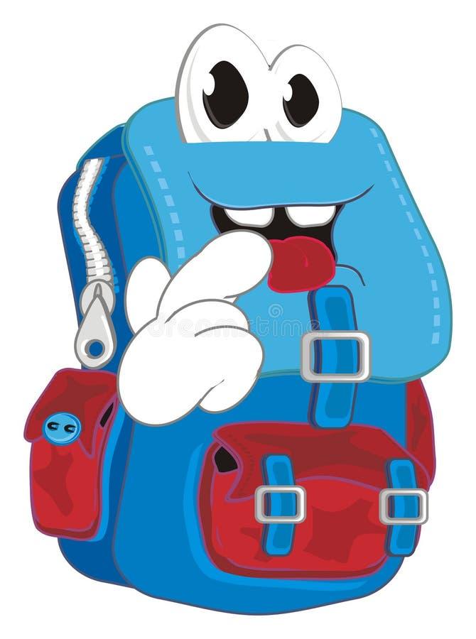 害羞的学校背包 库存例证