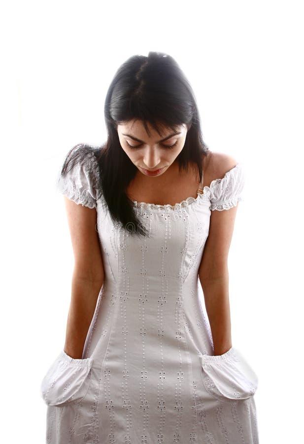 害羞的新娘 免版税图库摄影