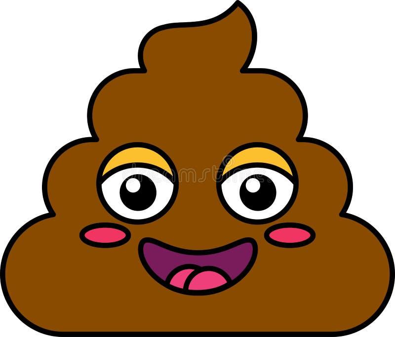 害羞的粪emoji传染媒介例证 库存例证