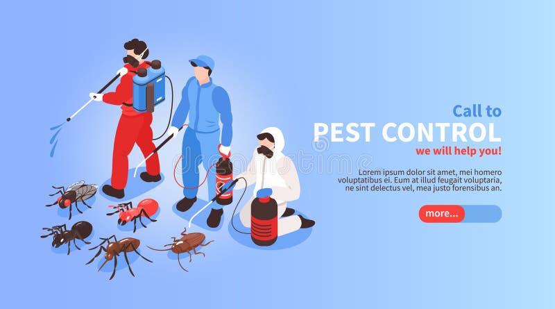 害虫控制网横幅 皇族释放例证