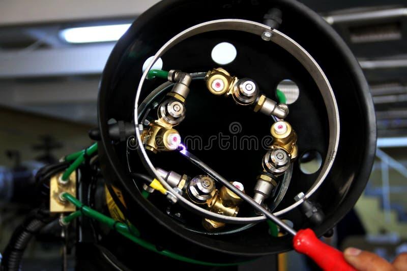 害虫控制设备的喷管零件 免版税库存照片