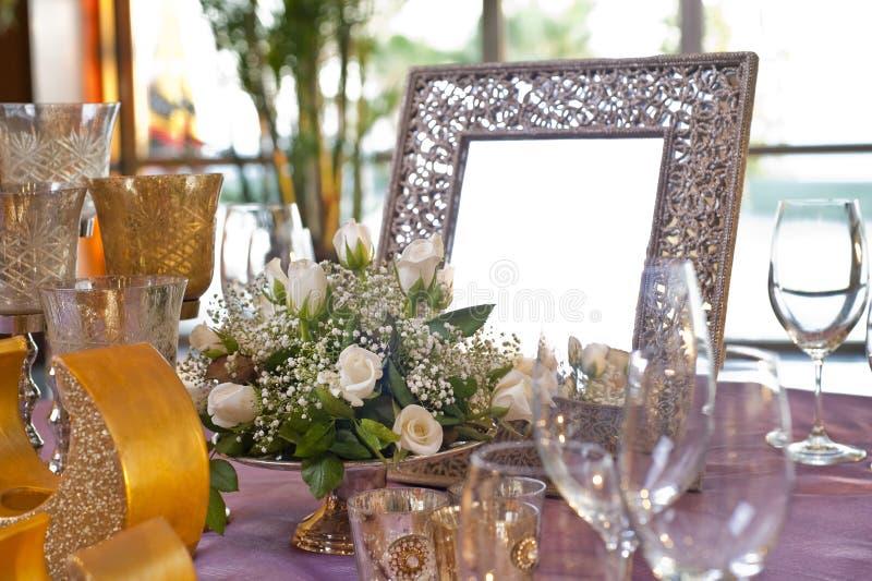 宴会婚礼 库存照片