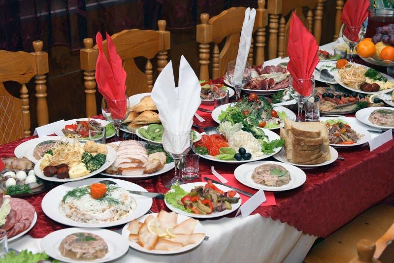 宴餐俄语 图库摄影