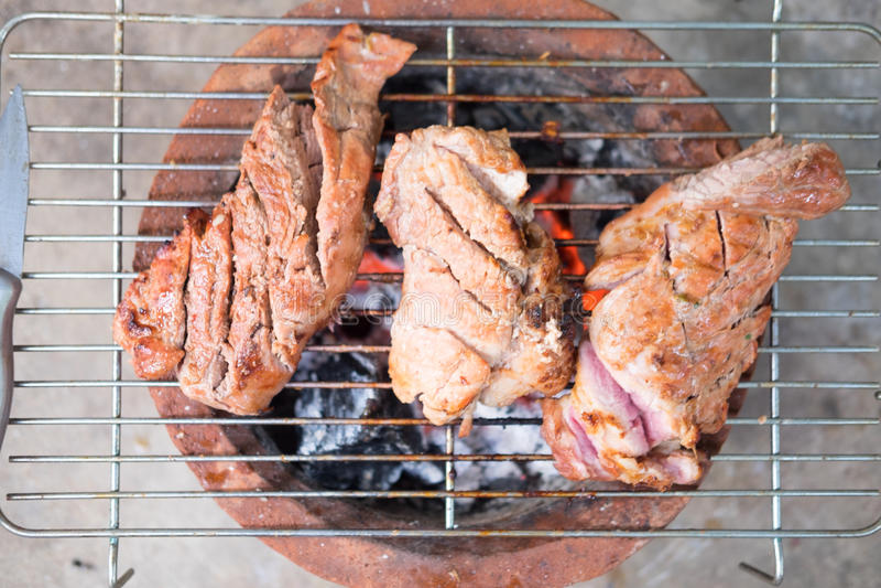 家做了猪肉bbq 库存照片