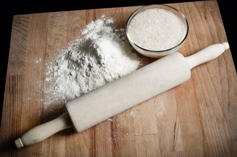 家做了面包或酥皮点心 免版税库存图片