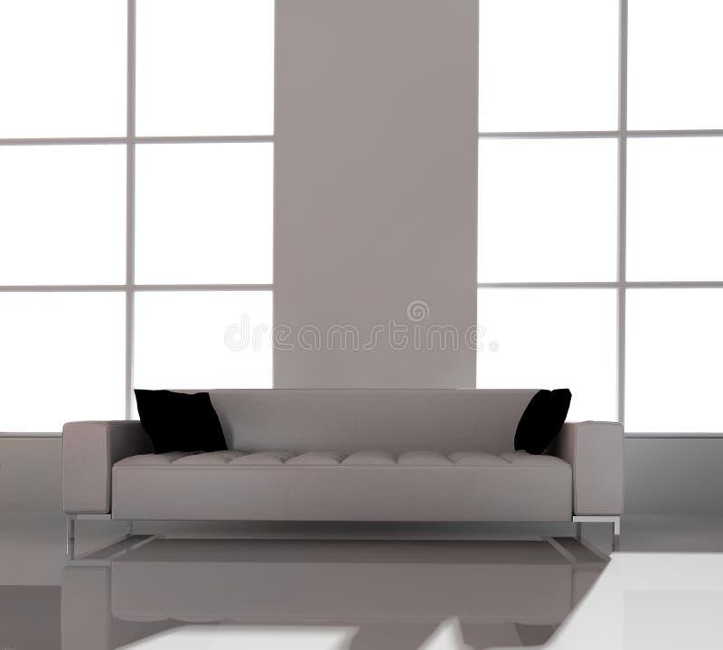 家具办公室白色 库存例证