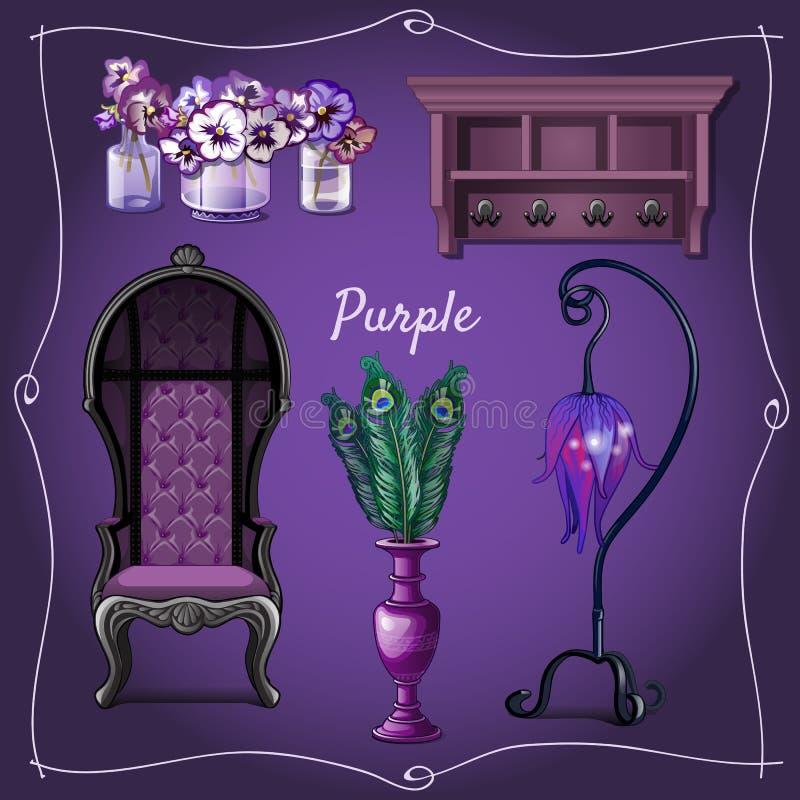 家具和室内装璜 库存例证