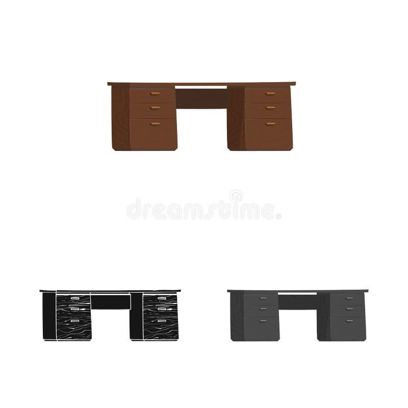 家具和工作标志的传染媒介例证 o 库存例证