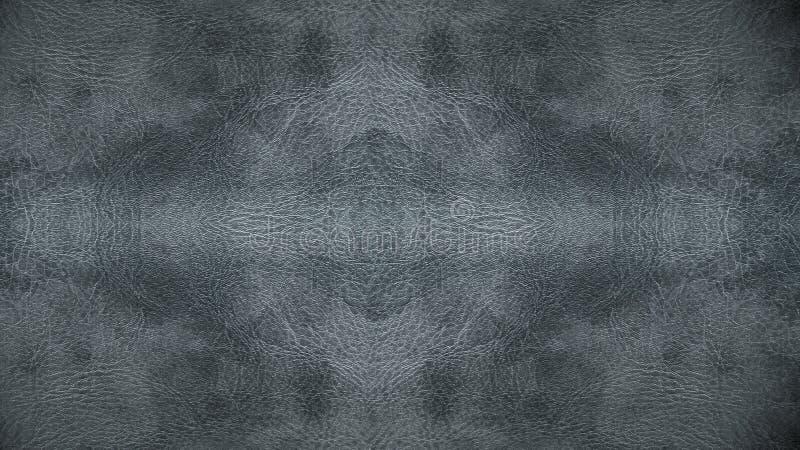 家具材料的半新浅灰色的皮革无缝的样式背景纹理 免版税库存图片