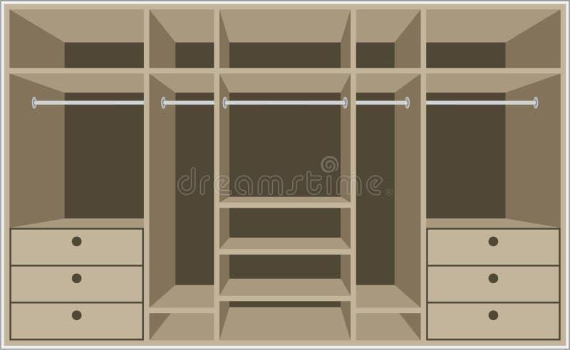 家具空间衣橱 皇族释放例证