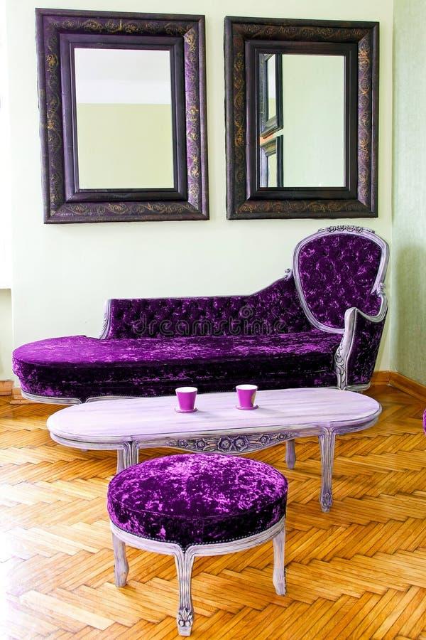 家具紫色 免版税库存图片