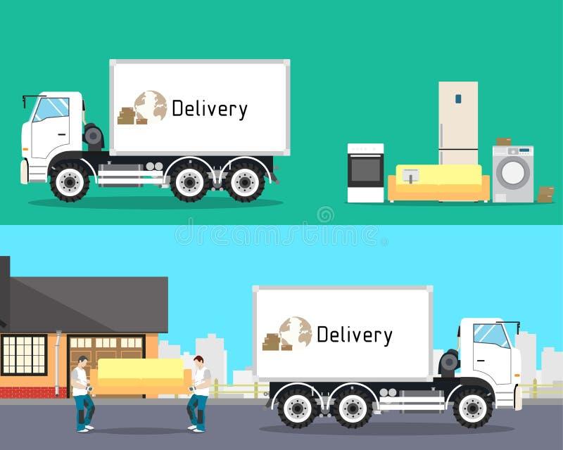 家具运输 向量例证