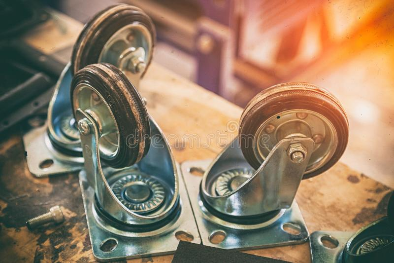 家具铸工轮子 库存照片