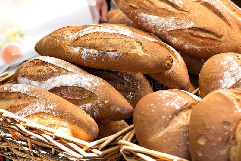 家制面包几个片断  免版税库存照片