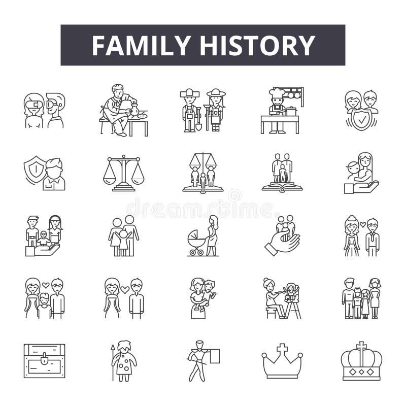 家史线象,标志,传染媒介集合,概述例证概念 库存例证
