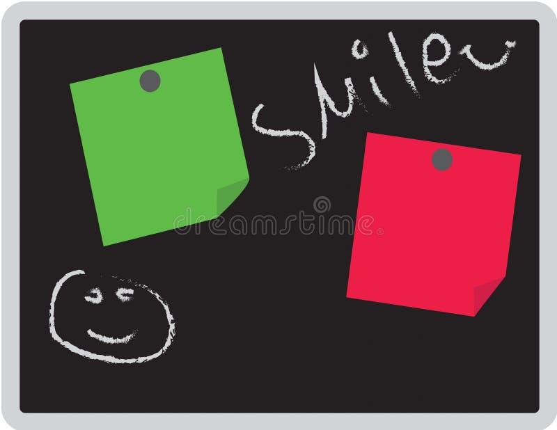 家和办公室消息磁铁黑板 向量例证